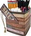 Reclaimed Wood Desktop Organizer