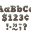 "Eucalyptus 4"" Bold Block Letters Combo Pack"