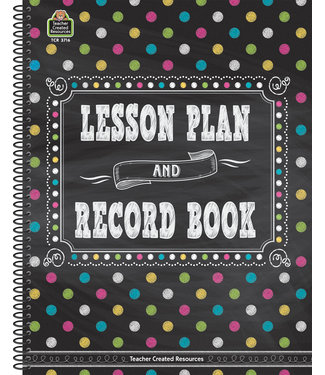 Teacher Created Resources Chalkboard Brights Lesson Plan and Record Book