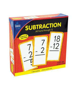 Carson Dellosa Subtraction All Facts Through 12 Flash Cards