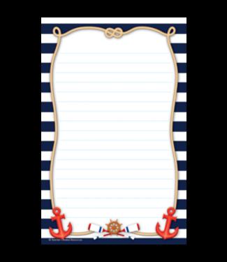 Teacher Created Resources Nautical Notepad