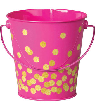 Teacher Created Resources Pink Confetti Bucket