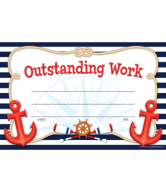 Teacher Created Resources Nautical Outstanding Work Awards