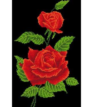 Diamond Dots Diamond Dotz - Red Rose Corsage