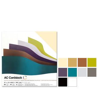 "AC Cardstock Scrapbook Cardstock: 12""x12"" 80lb (216gsm)  Modern Neutrals"
