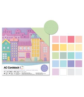 """AC Cardstock Scrapbook Cardstock: 12""""x12 Textured-Pastel"""