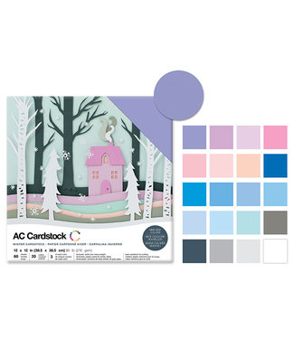 "AC Cardstock Scrapbook Cardstock: 12""x12 Textured-Winter"