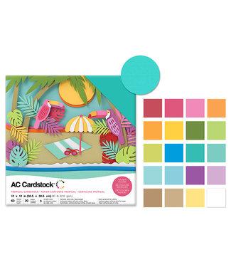 """AC Cardstock Scrapbook Cardstock: 12""""x12""""  Textured- Tropicals"""