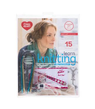 Red Heart Learn Knitting-Starter kit