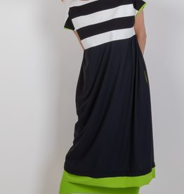 CHIARA COCOL 403d baby tech knit top cap sleeve dress