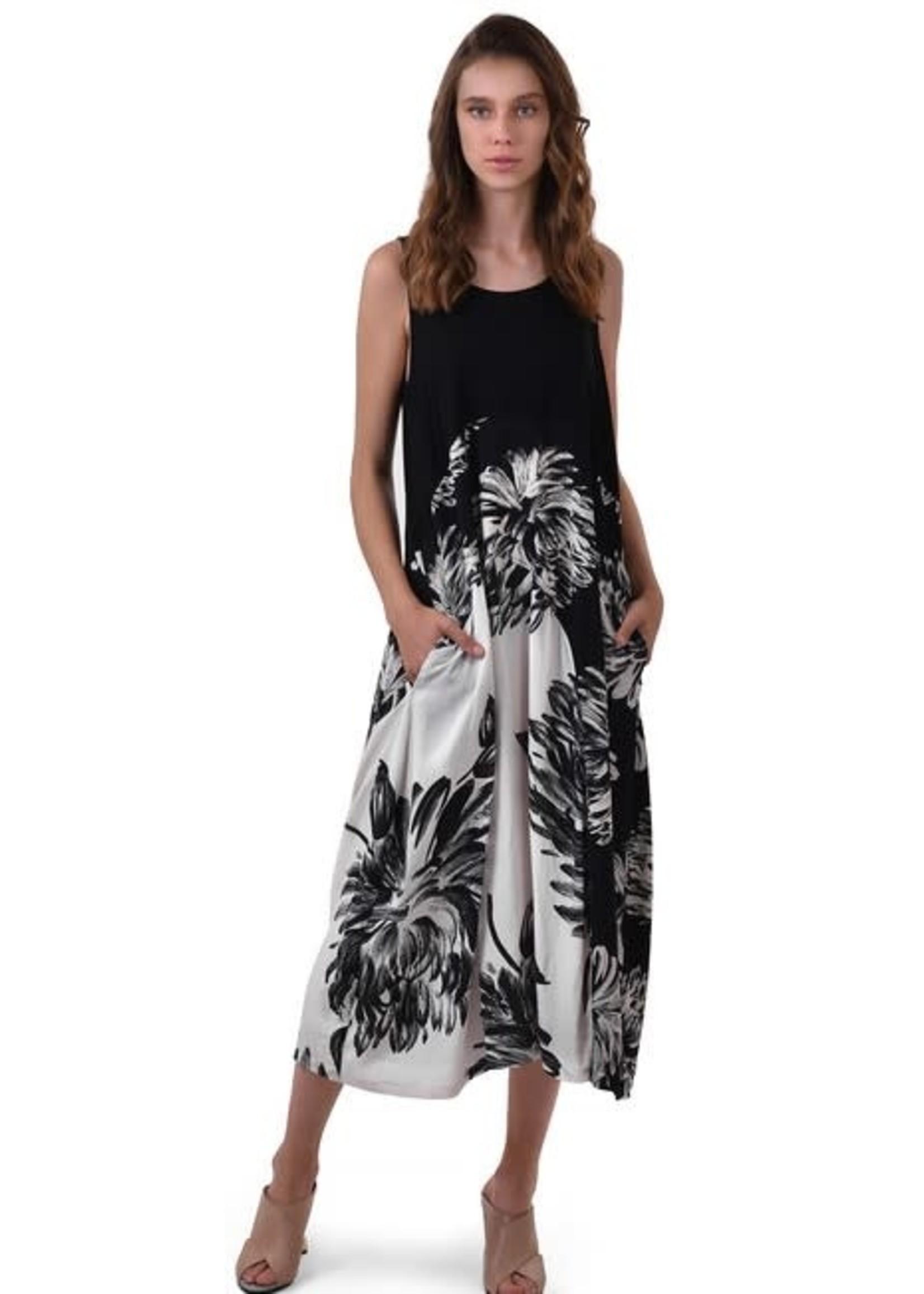 ALEMBIKA SD641B maxi dress black