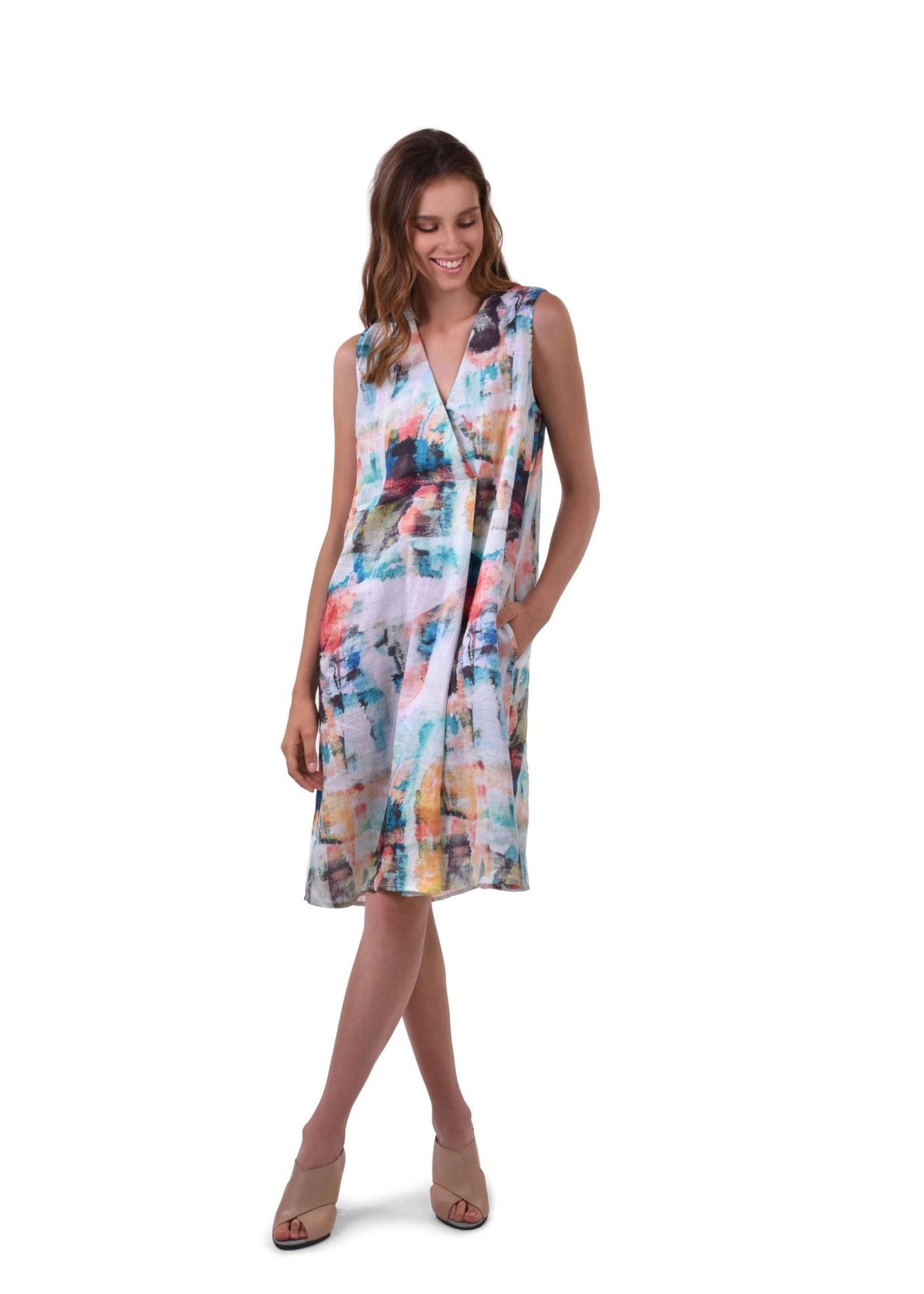 ALEMBIKA sd617b brushstroke dress