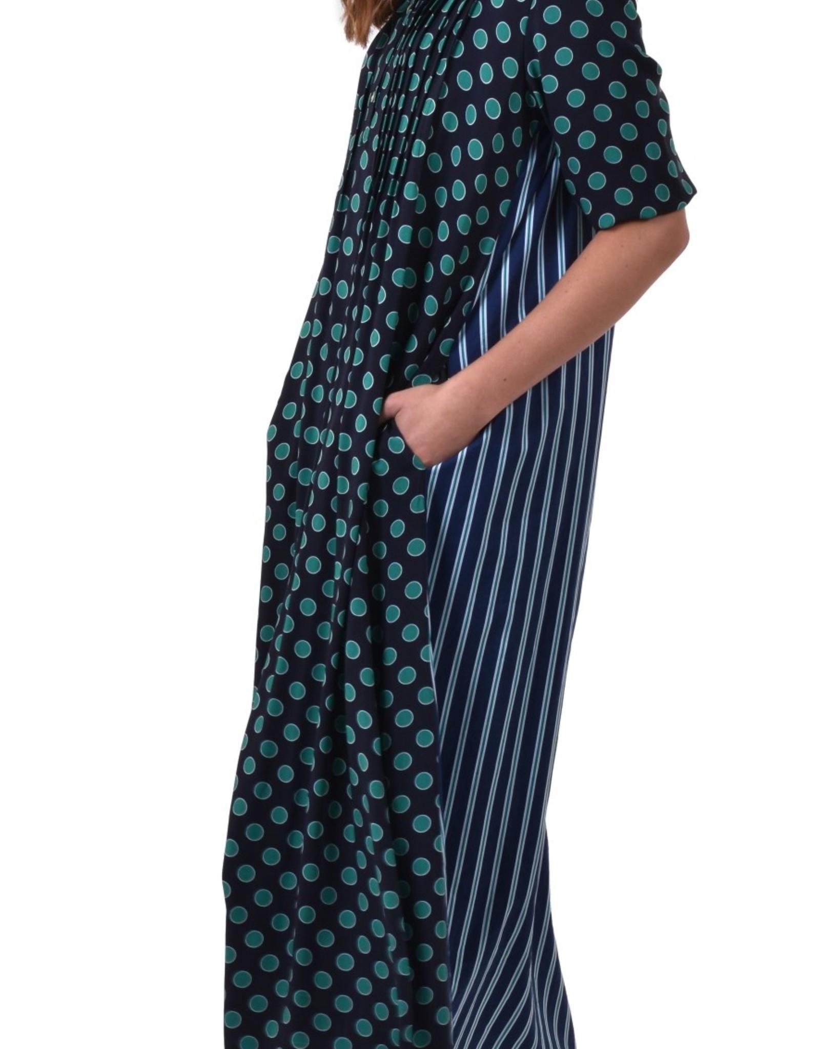 ALEMBIKA sd627c space dots maxi dress