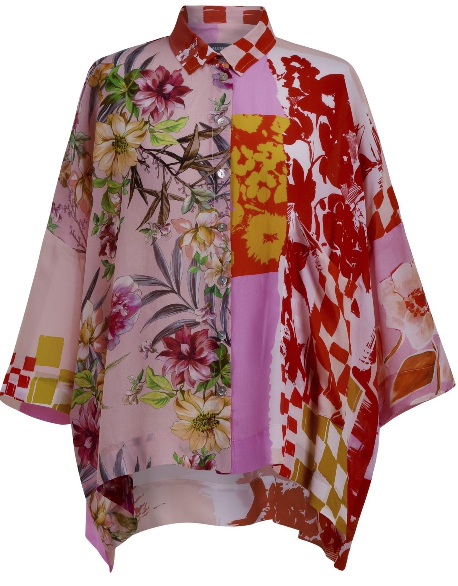 ALEMBIKA St204b button down floral blouse