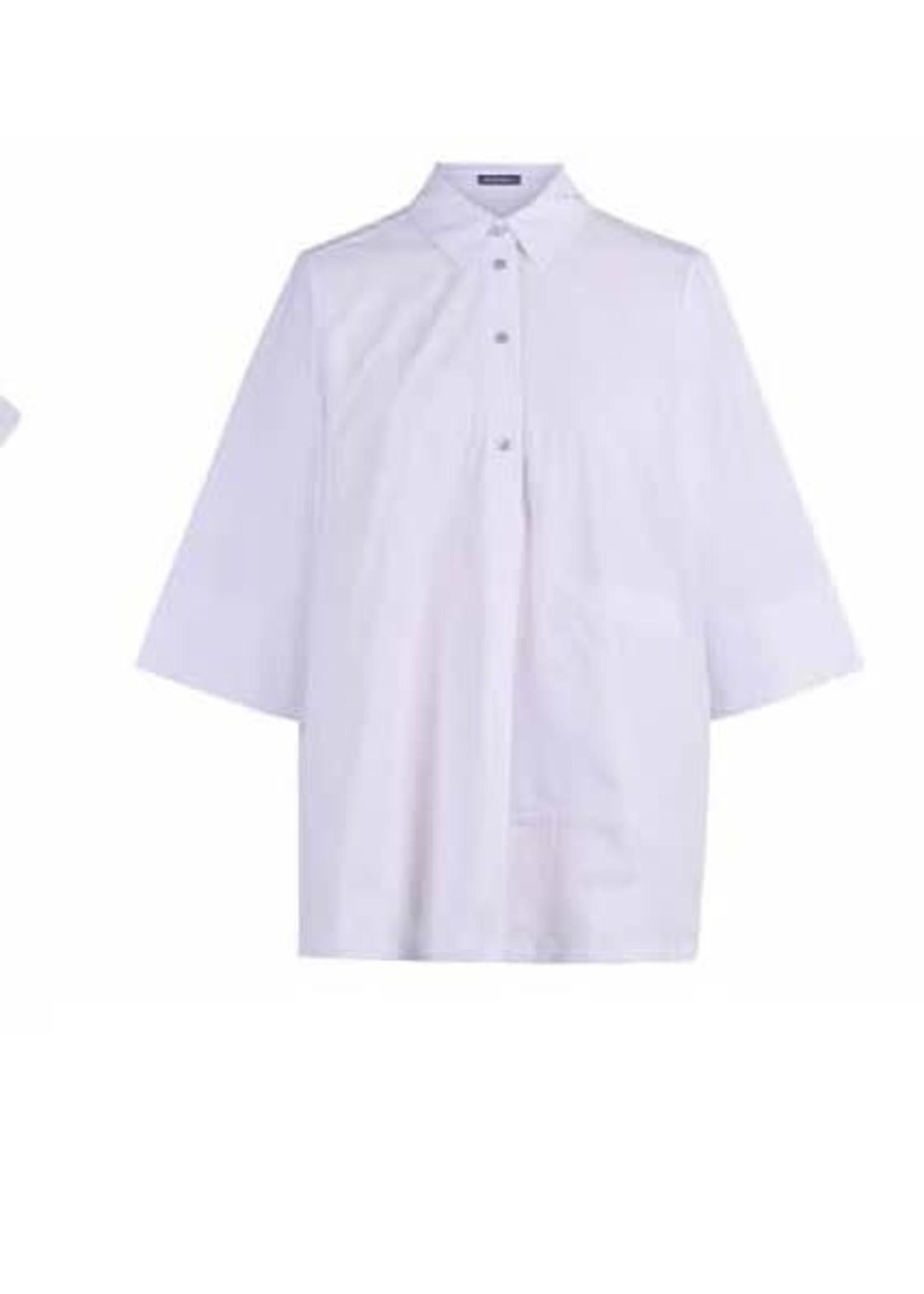 ALEMBIKA St220w white cotton collared shirt