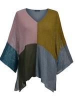 ALEMBIKA ss25m vneck color block knit