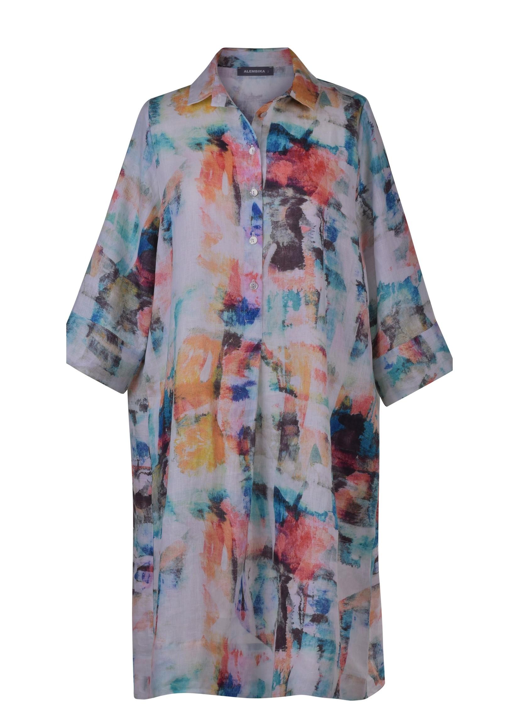 sd616b brushstroke dress