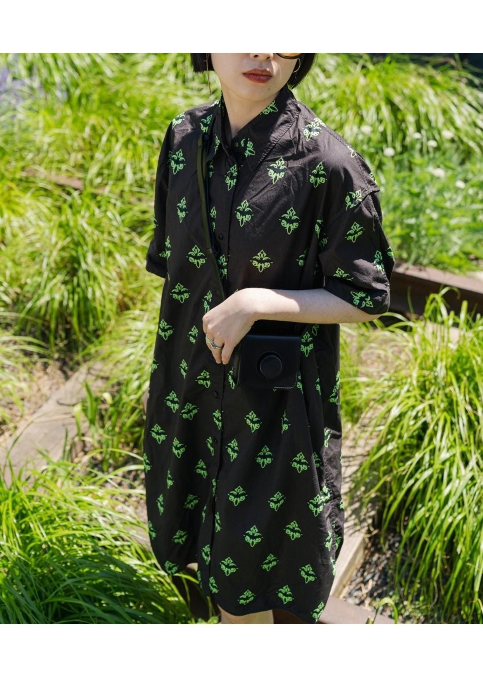 5k5100300 shirt dress xl green 100 cotton