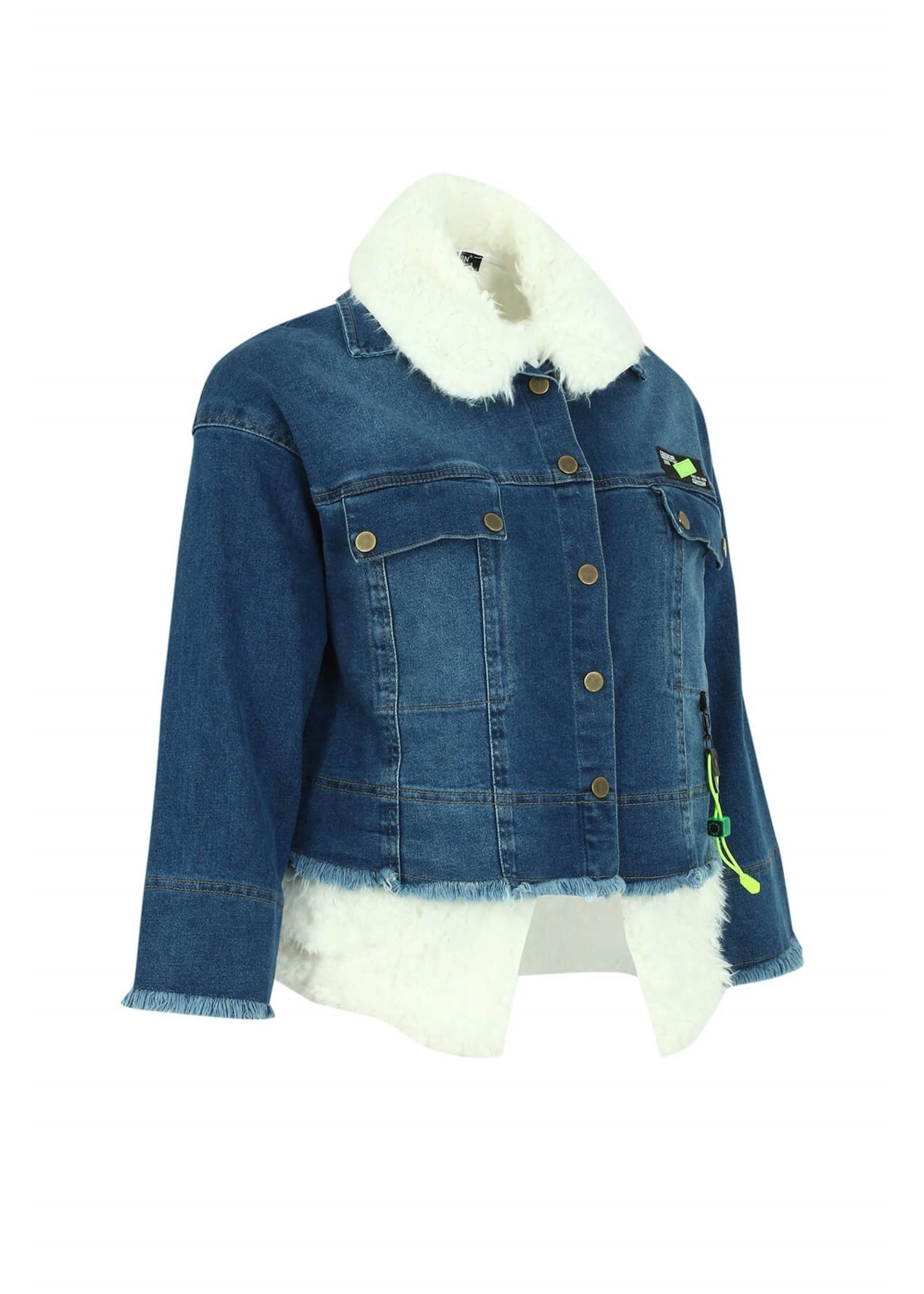 STEPPINOUT b1479  jean  fur line jacket
