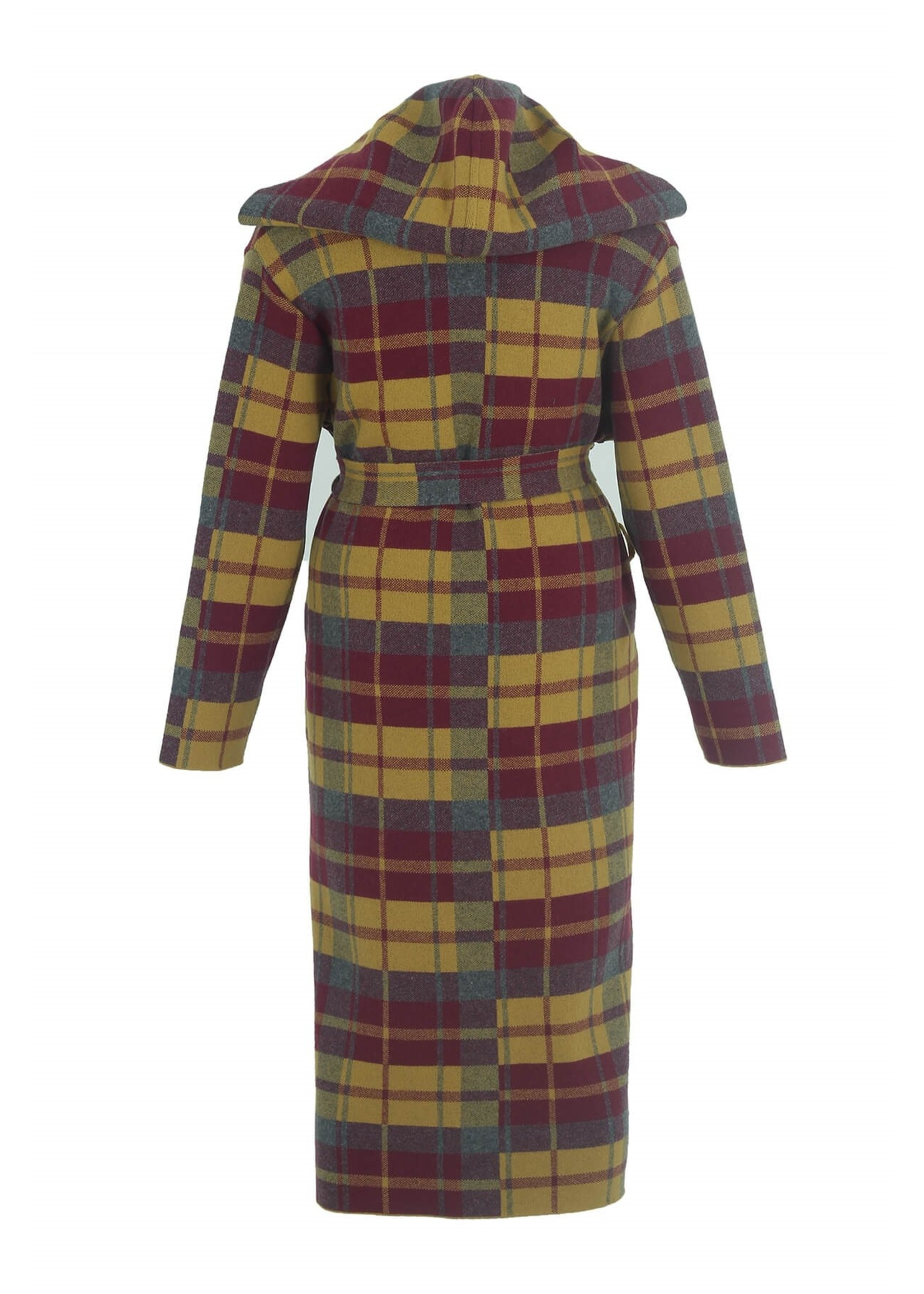 STEPPINOUT b13979 long plaid fall coat