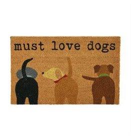 Mud Pie Must Love Dogs Doormat
