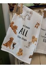 Mud Pie Dog Watercolor Towels