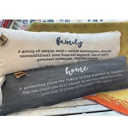 Mud Pie Washed Canvas Definition Pillows