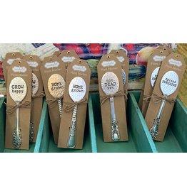 Mud Pie Hammered Spoon Markers