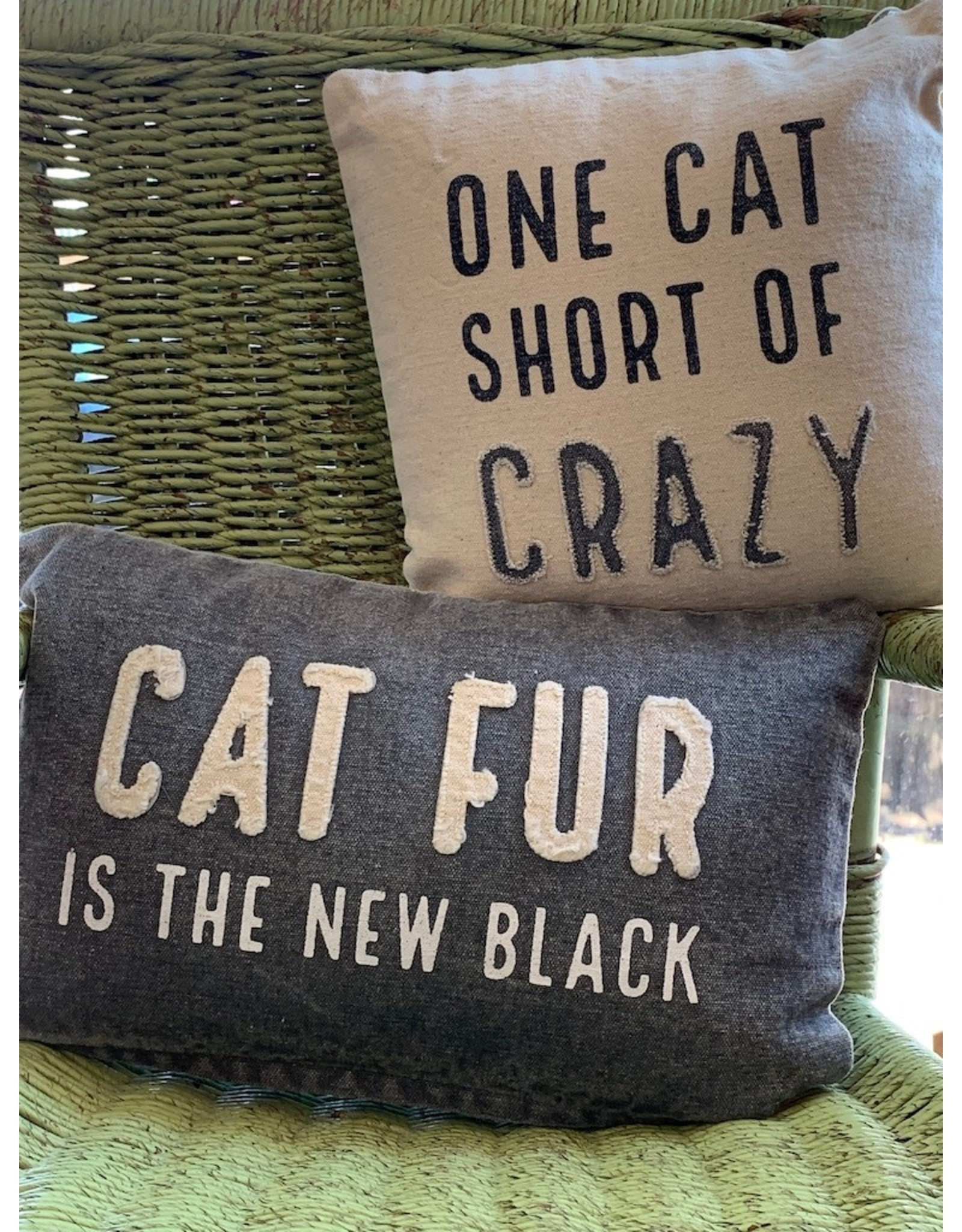 Mud Pie Cat Canvas Washed Pillows