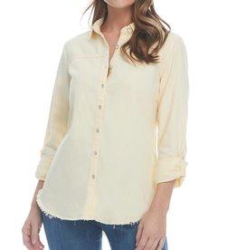 FDJ Linen Blend Tab Shirt