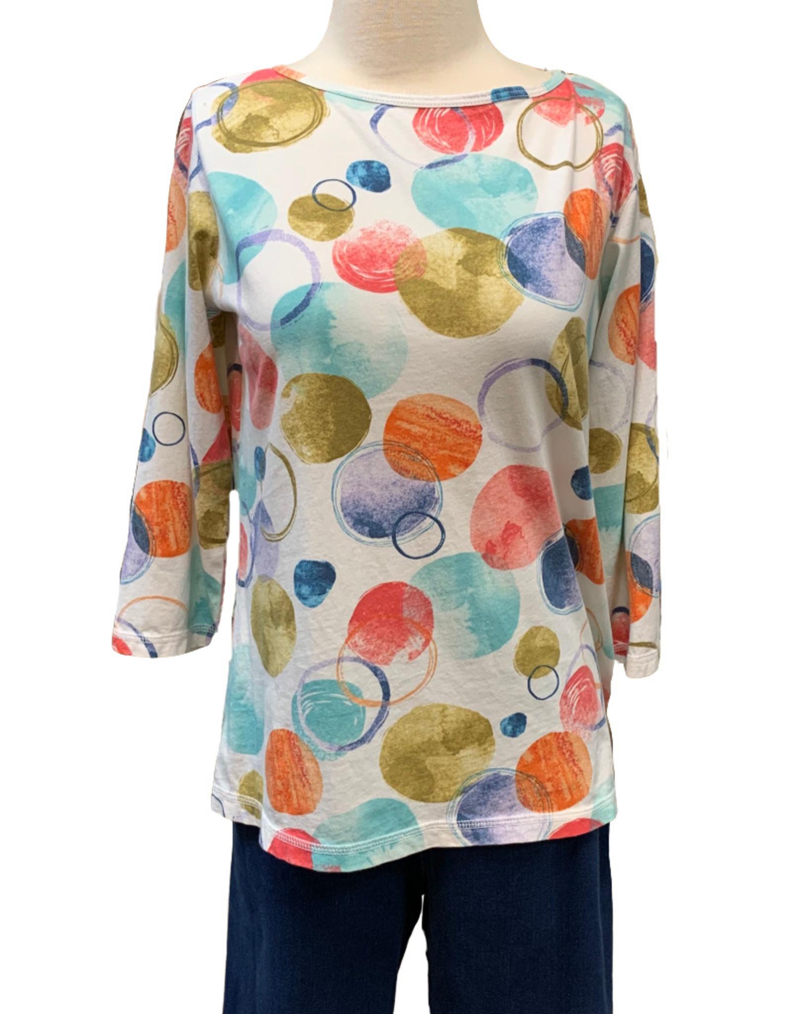 Color Me Cotton CMC Jersey Dot Print Top