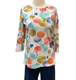 Color Me Cotton Color Me Cotton Jersey Dot Print Top