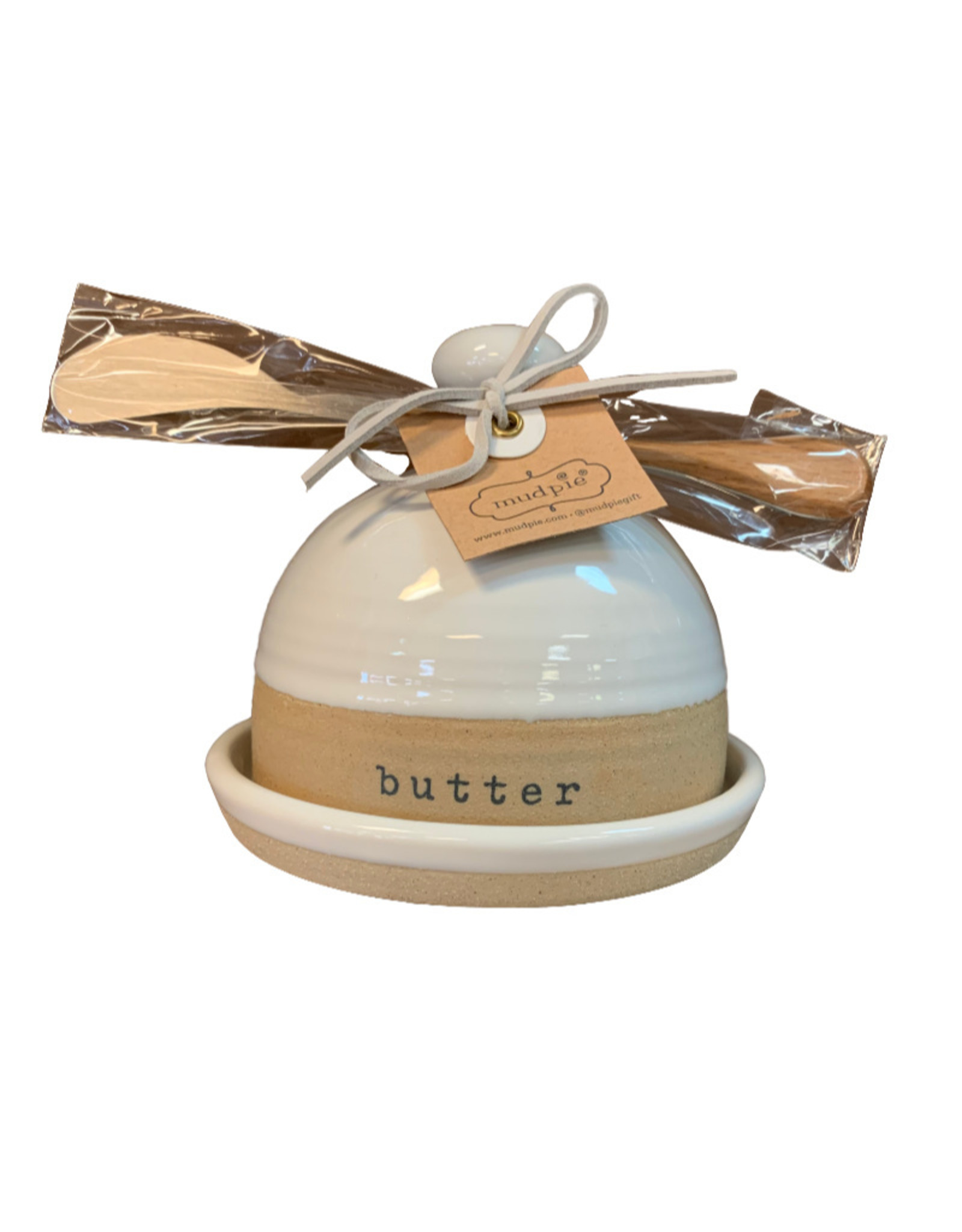 Mud Pie Stoneware Butter Dish