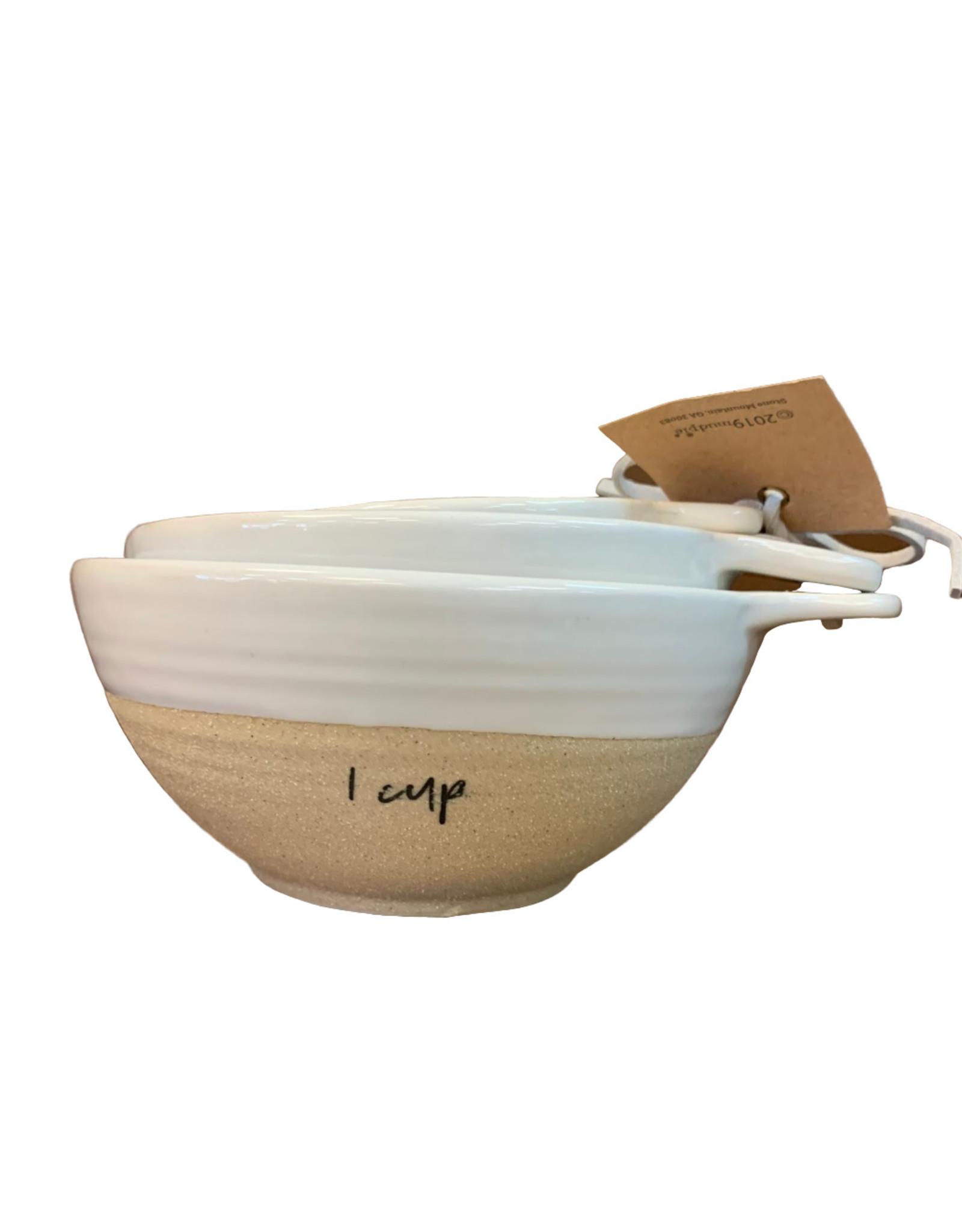 Mud Pie Stoneware Measuring Bowls