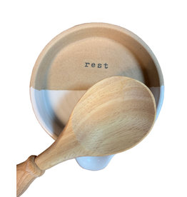Mud Pie Stoneware Spoon Rest Set