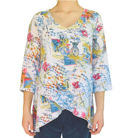 Color Me Cotton Color Me Cotton Double Gauze V Neck Top