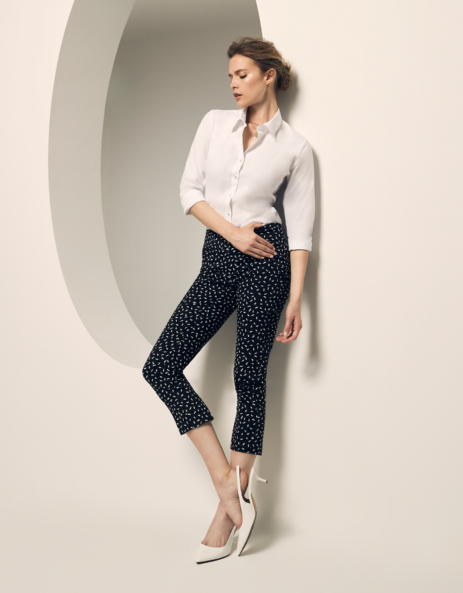 "Lisette-L Jackson Dot Print 26"" Ankle Pant"