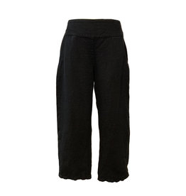 Color Me Cotton Color Me Cotton Linen Black Crop Pant