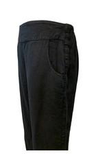 Color Me Cotton CMC Linen Black Crop Pant