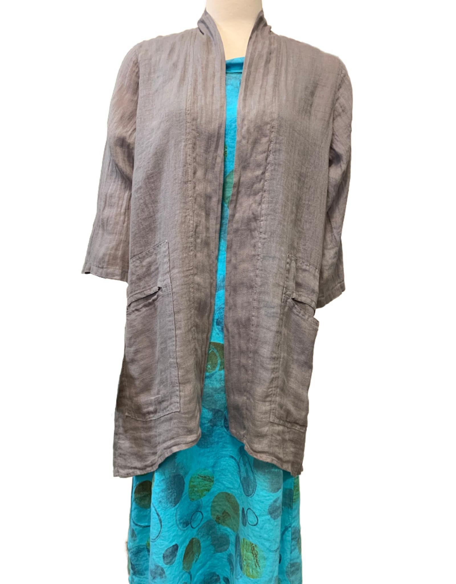 Color Me Cotton CMC Long Linen Mesh Jacket