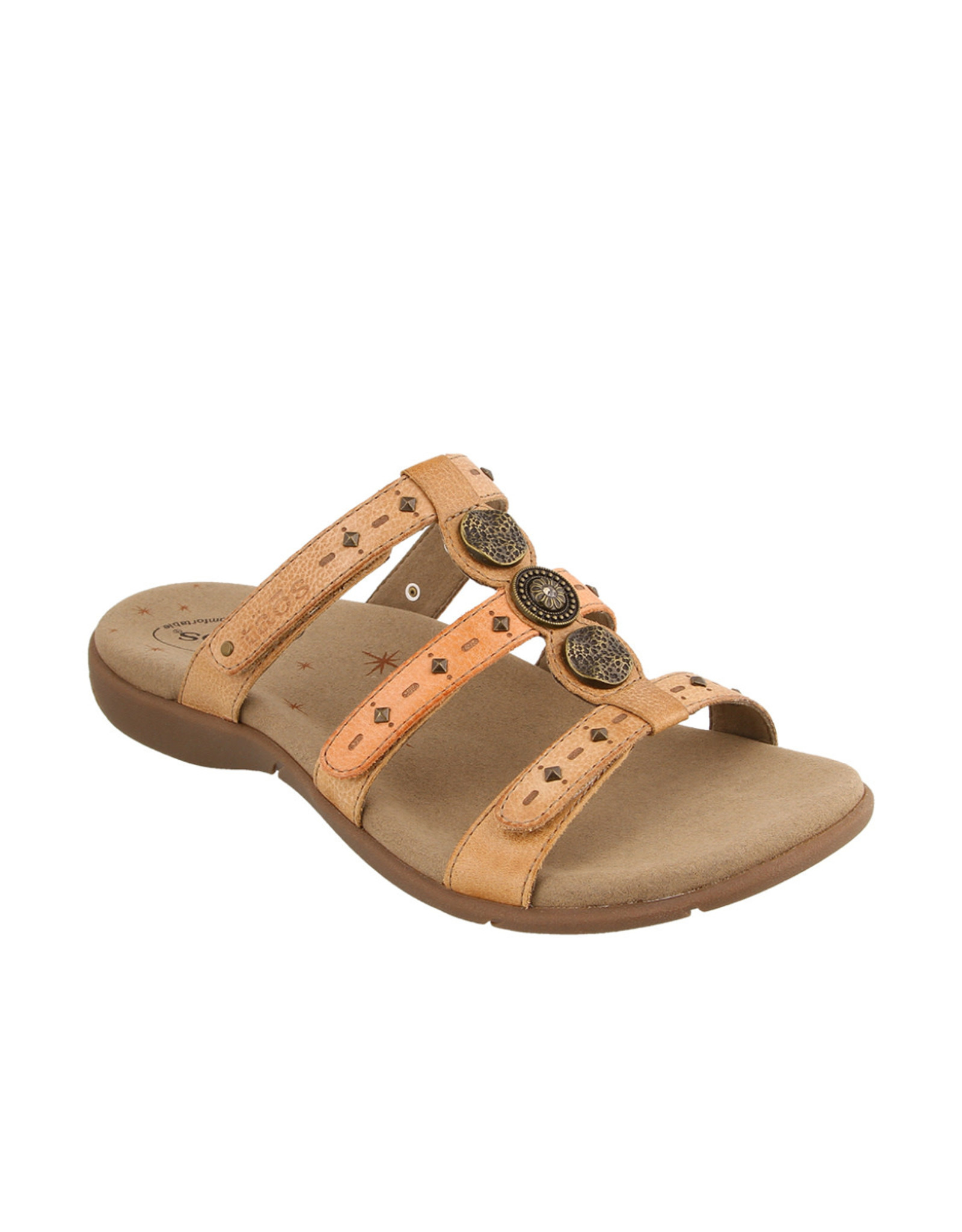 Taos Footwear Taos Festive Leather Slip On Sandal