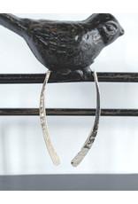 Hammered Drop Threader Earrings