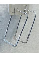 Thin Rectangle Hoop Earrings
