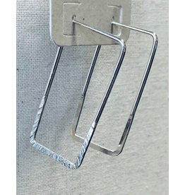 Thin Rectangle Hoop Earrings