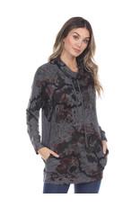 Inoah Long Sleeve Cowl Neck Tunic Side Pockets