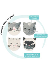 now designs Coaster Soak Up Cats Meow