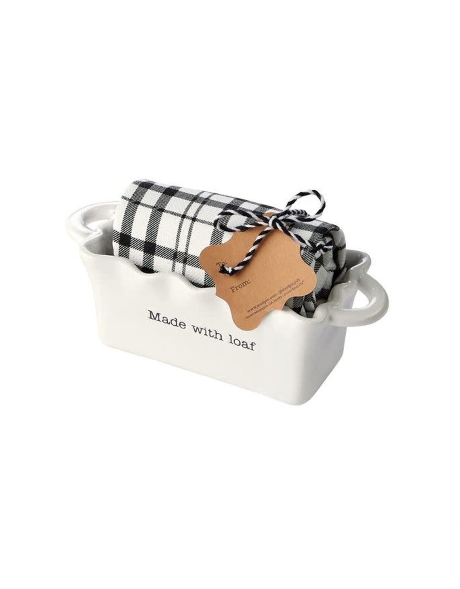 Mud Pie Made Circa Mini Loaf w/Towel