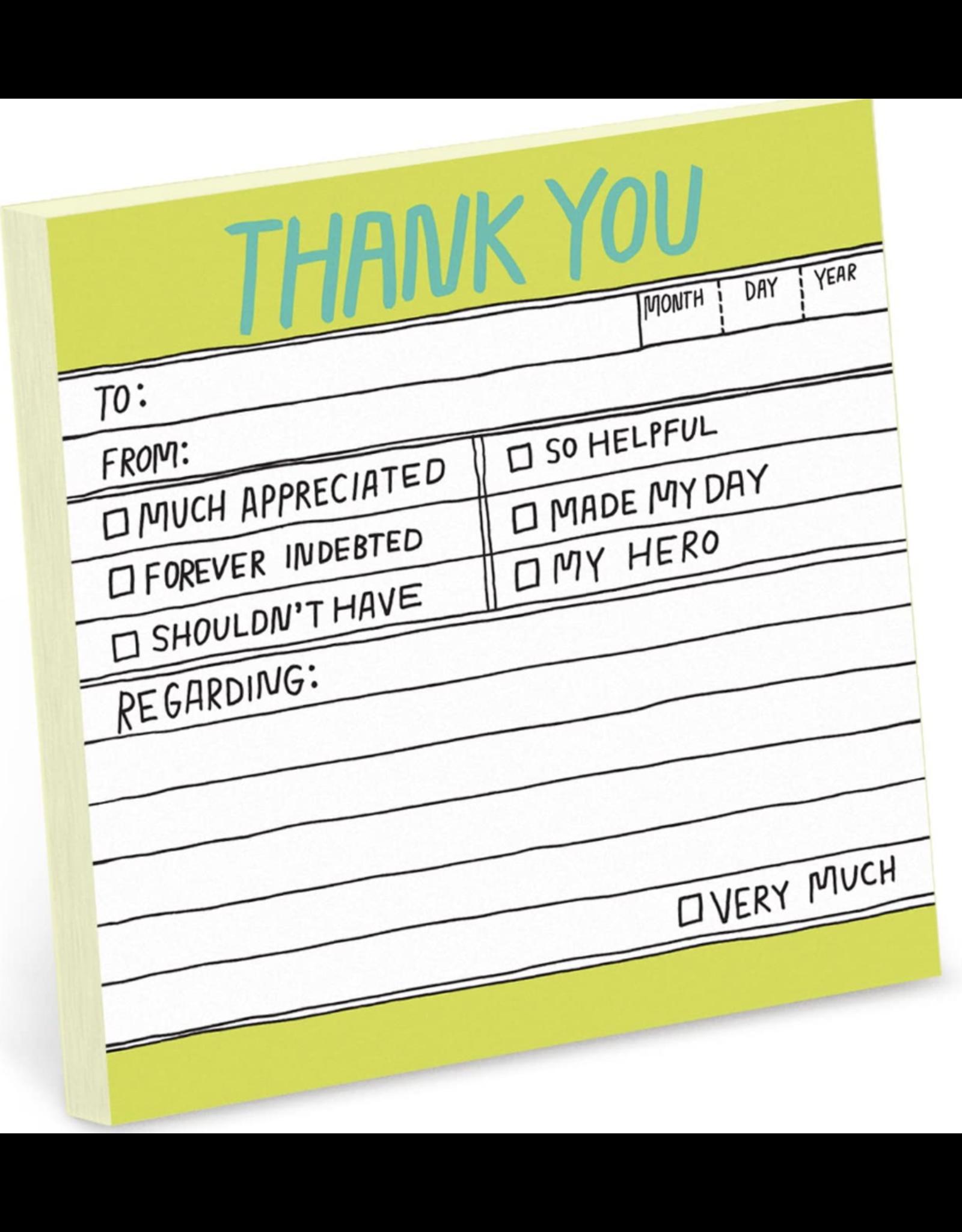 Knock Knock HL Sticky Note: Thank You