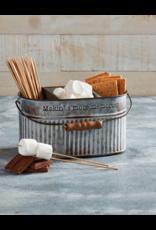 Mud Pie Smore Divided Tin Bucket