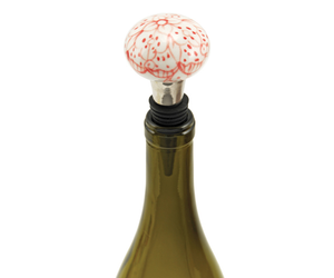 Floral Bottle Stopper Whisk